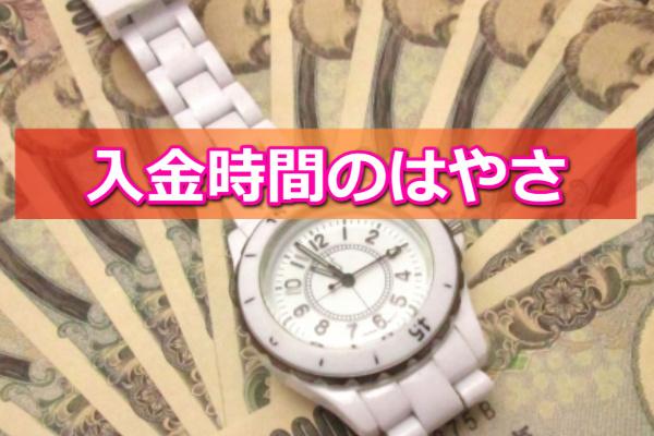 24キャッシュでする現金化の入金時間
